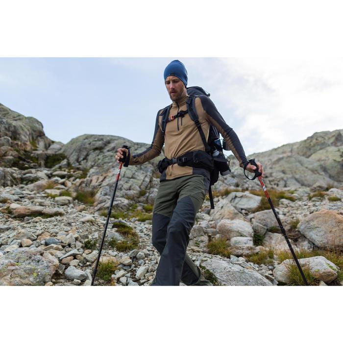 T-shirt mérinos manches longues de trek montagne - TREK 900 marron - homme