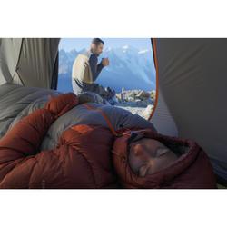 Sac de couchage veste Sleeping Suit TREK900 10° plume rouge gris