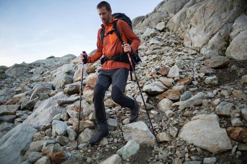 Men's dark grey TREK 900 mountain trekking trousers