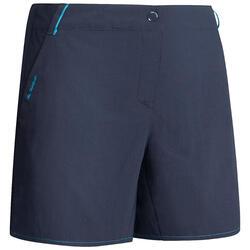 Pantalón corto de senderismo montaña mujer MH100 azul marino