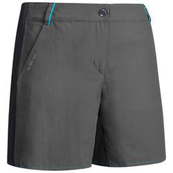 Pantalón corto de senderismo montaña mujer MH100 gris