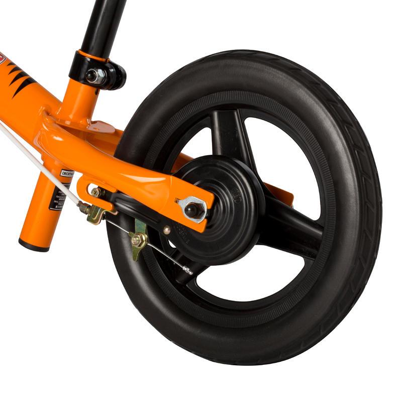 "Bicicleta para niños Sin Pedales 10"" Run Ride Naranjo BTWIN"