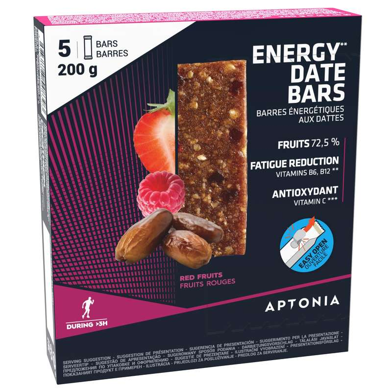 BARS, GELS & AFTER Running - Energy Bar 5x40g mixed berries APTONIA - Running