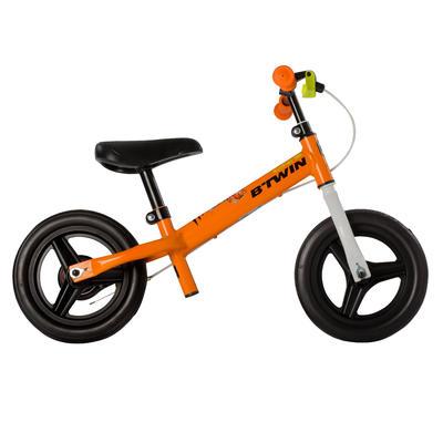 Bicicleta sin pedales niño 10 pulgadas RunRide 500 naranja