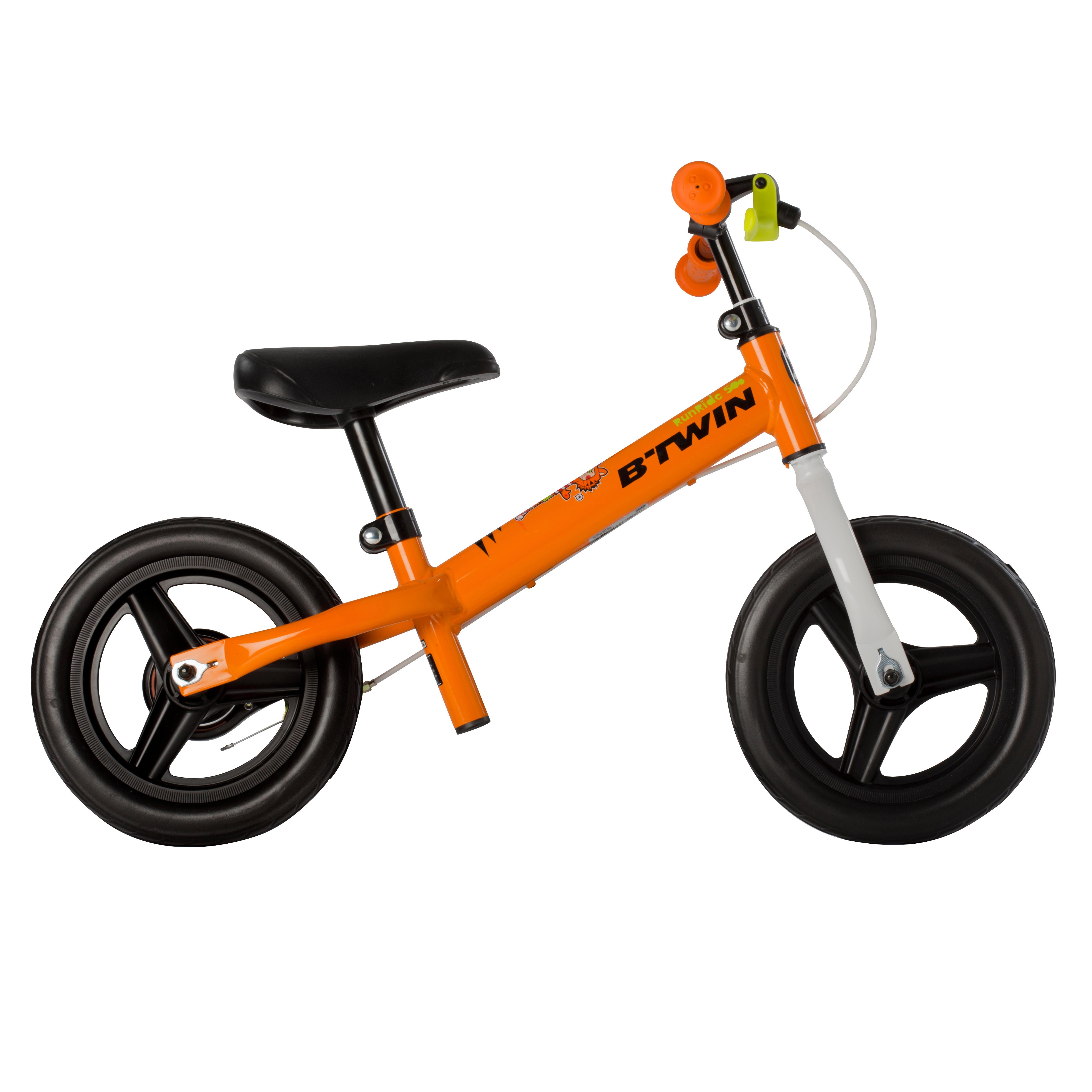 Bicicleta sin pedales para niños de 10 pulgadas Run Ride Naranja