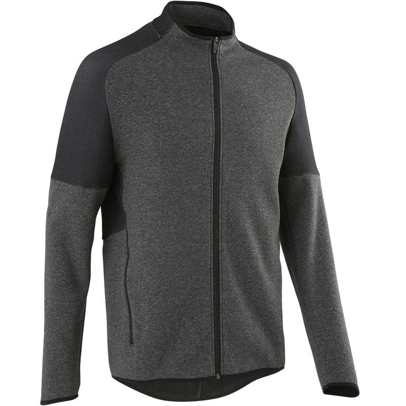 MAN GYM, PILATES COLD WEATHER APPAREL Clothing - 540 Gym Jacket Dark Grey DOMYOS - Clothing