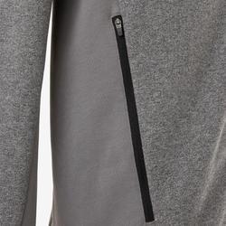 Veste zippée homme 500 grise clair chiné