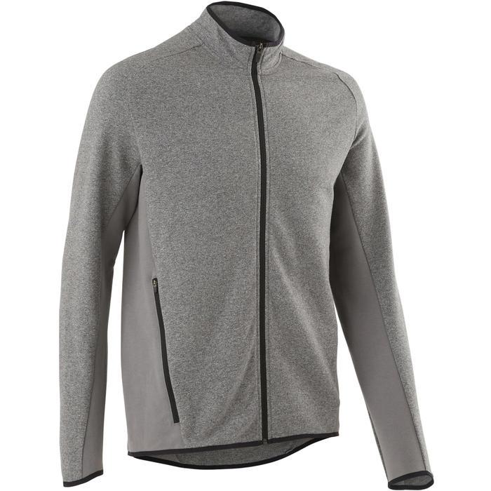 Vest met rits voor heren 500 gemêleerd lichtgrijs