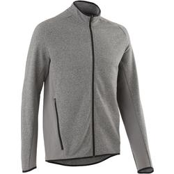 Veste 500 Pilates Gym douce homme gris clair chiné