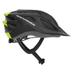 MTB helm kind 500 zwart/fluogroen