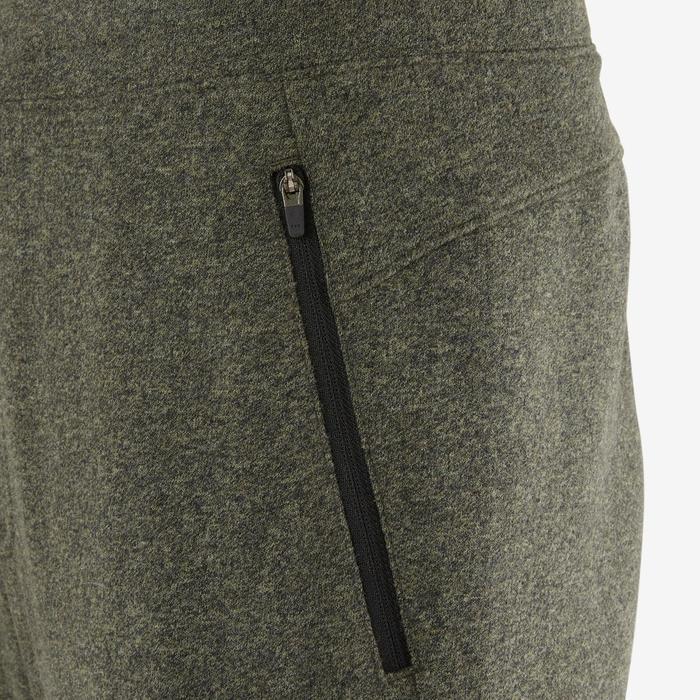 Pantalon 500 slim zip Pilates Gym douce homme kaki