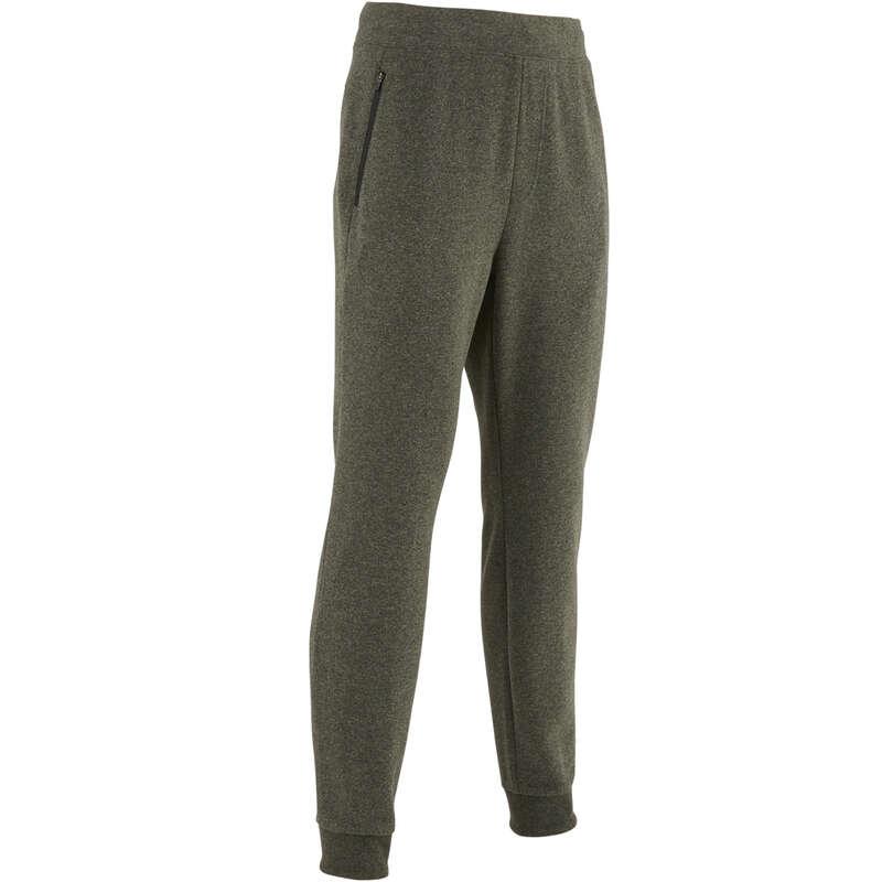 MAN GYM, PILATES COLD WEATHER APPAREL Activewear - 500 Slim Gym Bottoms - Khaki NYAMBA - Men