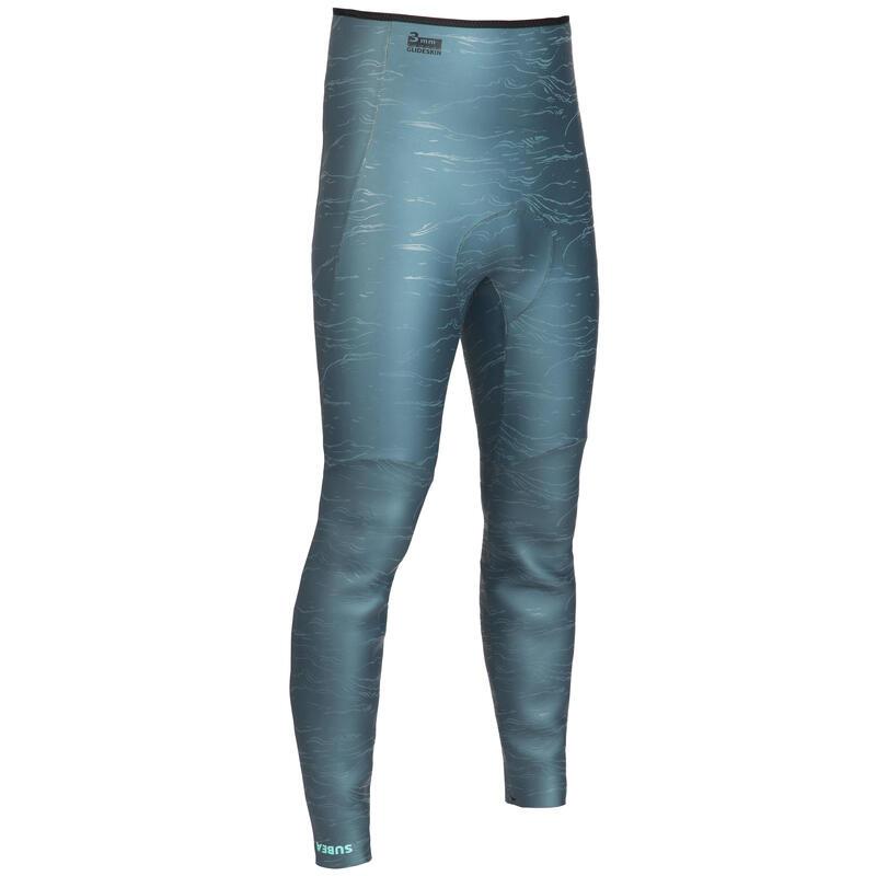 Pantalon de combinaison d'apnée freediving néoprène 3mm FRD900 gris vert