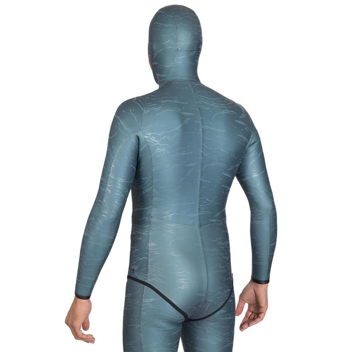 Neoprenjacke Freediving FRD 900 Neopren 3 mm grau Print