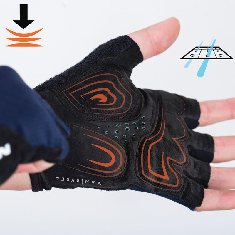 Roadr 500 Cycling Gloves - Navy Blue
