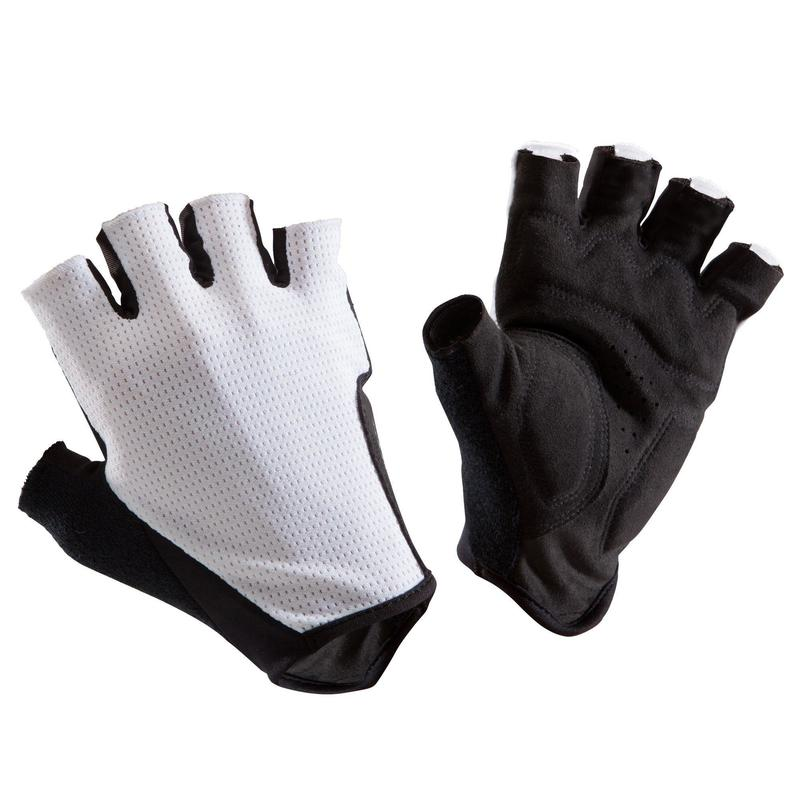 Cyklistické rukavice na silniční cyklistiku 500 bílé