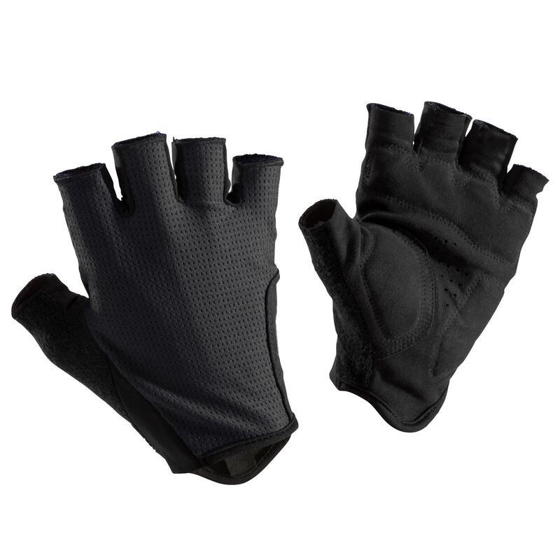 Cyklistické rukavice na silniční cyklistiku 500 černé