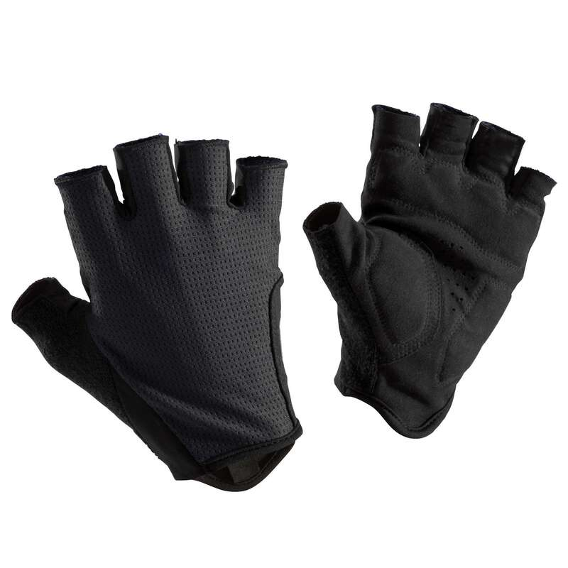 BIKE GLOVES WARM WEATHER Cycling - RC 500 Cycling Gloves - Black TRIBAN - Clothing