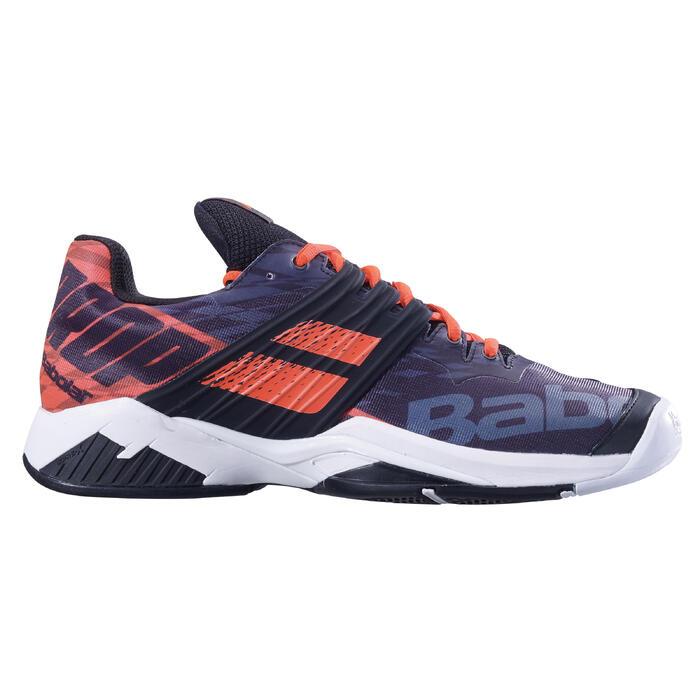 babolat tennisschoenen voor heren propulse fury zwart oranje