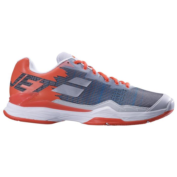 CHAUSSURES DE TENNIS HOMME JET MACH 1 GRISE ORANGE MULTI COURT