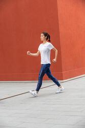 PW 590 Xtense Women's Fitness Walking Shoes - White/Grey