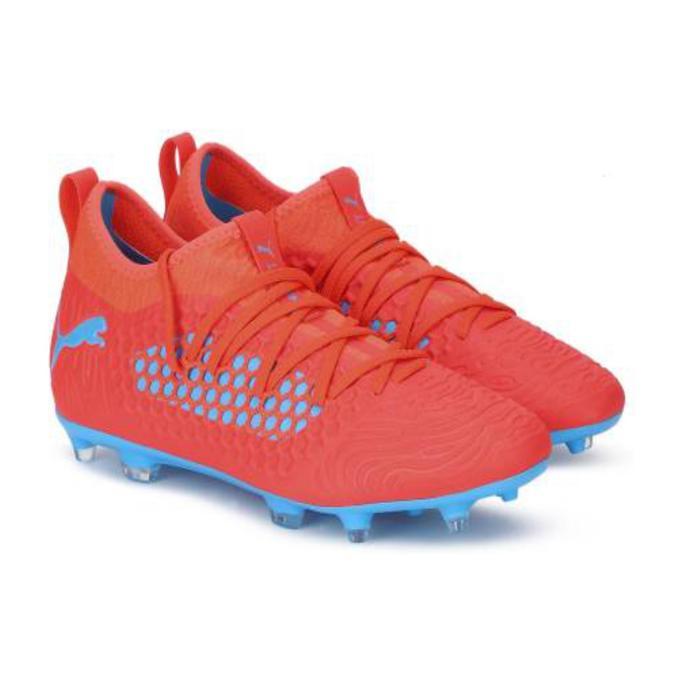 Botas de Fútbol adulto Puma Future 19.3 FG rojo y azul