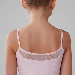 Maillot de tirantes danza clásica niña rosa