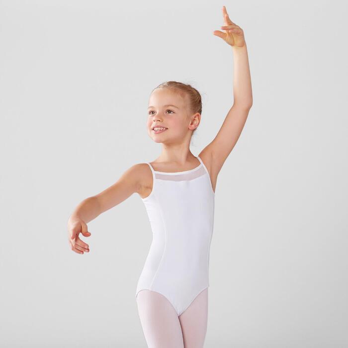 Maillot de tirantes danza clásica niña blanco