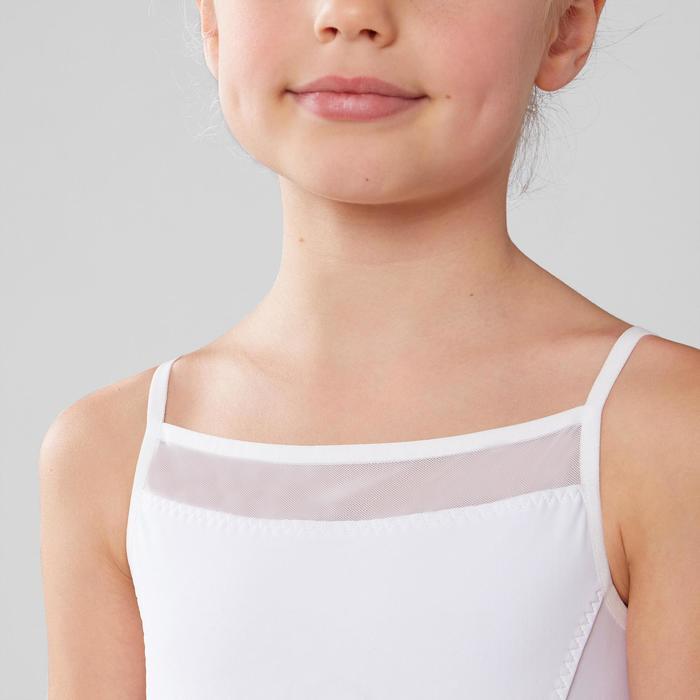 Ballett-Trikot mit Trägern Mädchen weiß