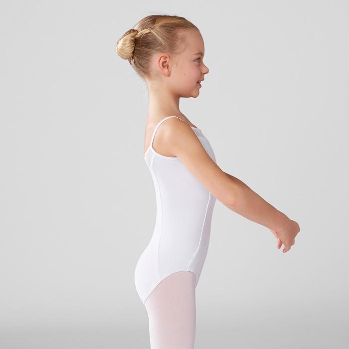 Justaucorps de danse classique à bretelles fille blanc