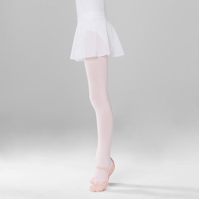 Balletrokje in voile voor meisjes wit