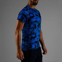 Tee shirt cardio fitness homme FTS 120 blue AOP