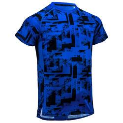 Camiseta de cardio fitness hombre FTS 120 azul AOP