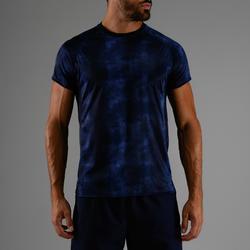 Cardiofitness T-shirt heren FTS 120 gemêleerd blauw