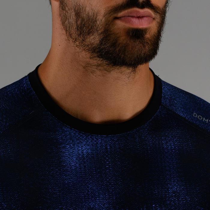 有氧健身T恤FTS 120-斑駁藍
