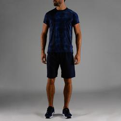 Tee shirt cardio fitness homme FTS 120 bleu chiné
