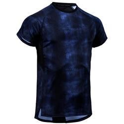 Fitness shirt 120 voor heren, blauw met print
