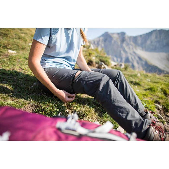 Zip-Off-Trekkinghose Trek 100 Damen dunkelgrau