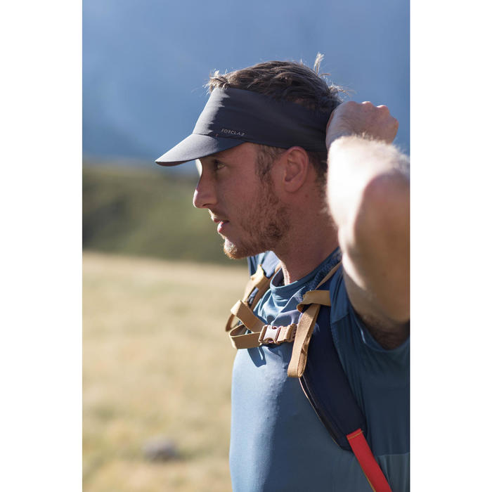 Casquette de Trekking Montagne TREK 100 ultra-compacte gris foncé