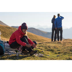 Chaussures en cuir semelles souples de trekking montagne -TREK100 CUIR femme
