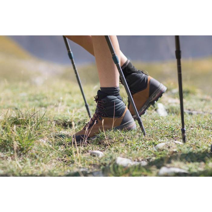 Chaussures de trekking montagne TREK100 cuir femme