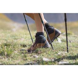 Chaussures en cuir semelles souples de trekking montagne - TREK 100 CUIR femme
