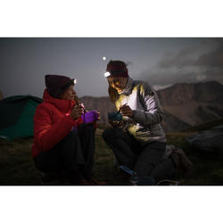 Couvert pliant trekking (fourchette / cuillère) - TREK 500 plastique violet