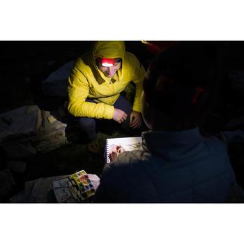 Battery operated trekking head lamp - ONNIGHT 100 red - 80 lumens