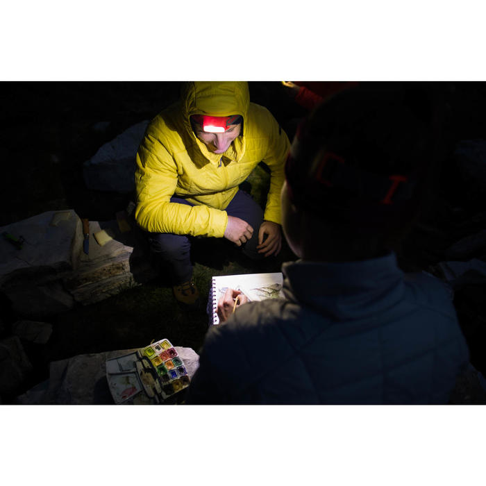 Lampe frontale trekking ONNIGHT 100 rouge - 80 lumens