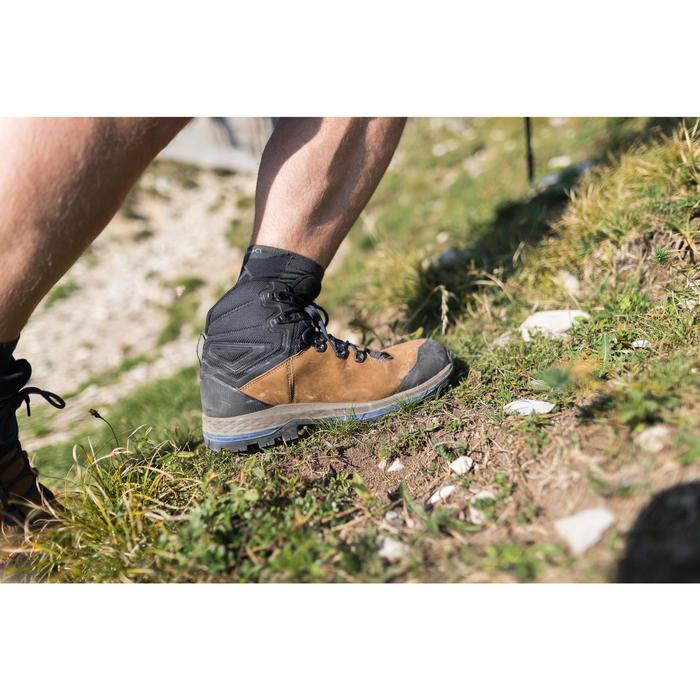 Leren schoenen voor bergtrekking heren Trek 100 soepele zool
