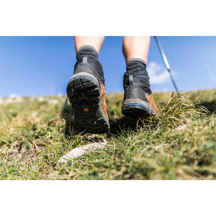 Chaussures de trekking montagne TREK100 cuir homme