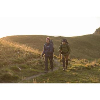 Damesbroek voor bergtrekking Trek 500 donkergrijs