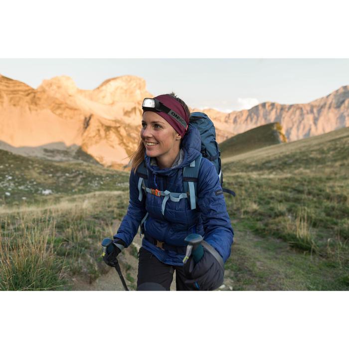 Doudoune capuche de trek montagne - TREK 100 bleue Femme