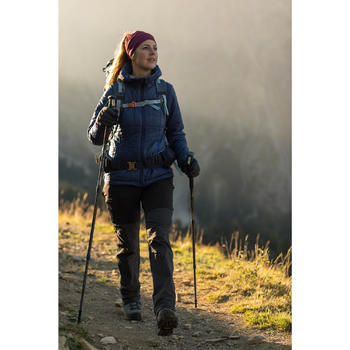 Woman's mountain trekking trousers - TREK 500 - dark grey